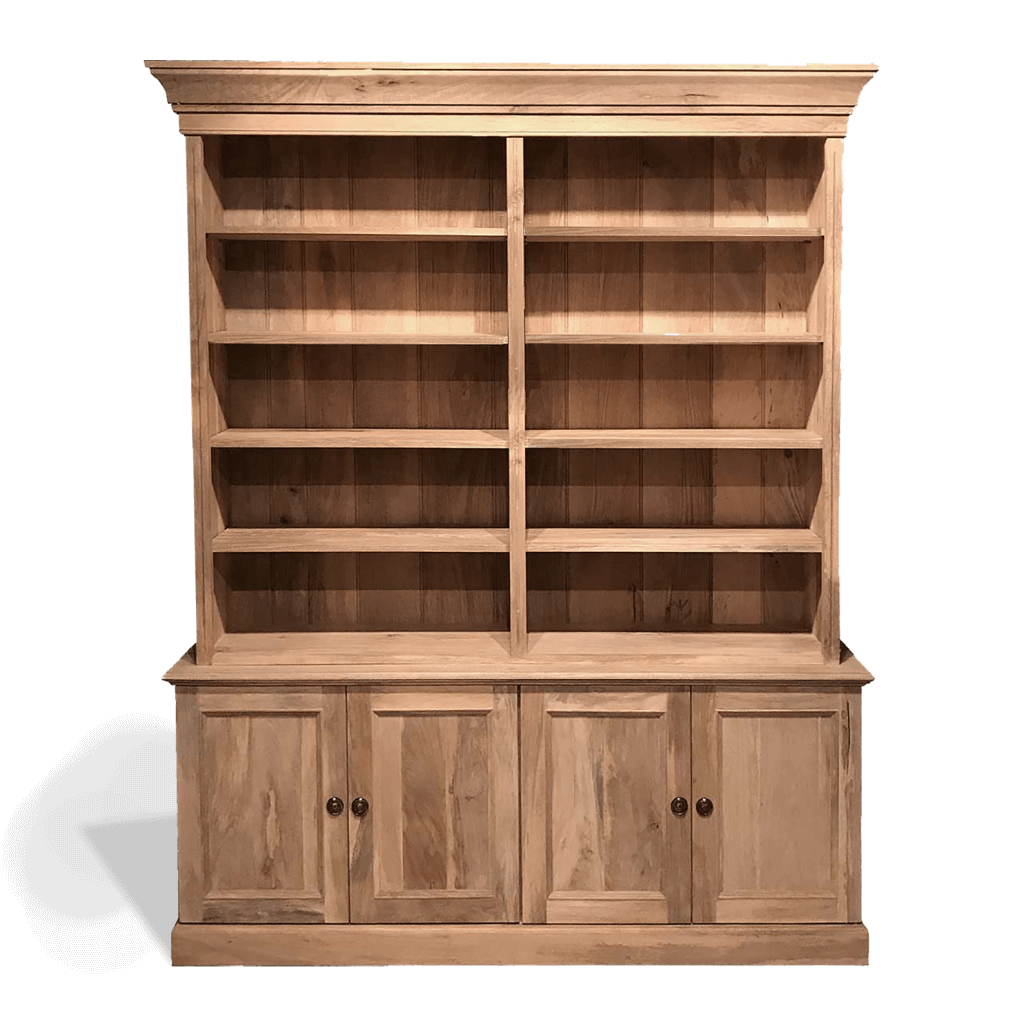 Large solid wood bookcase