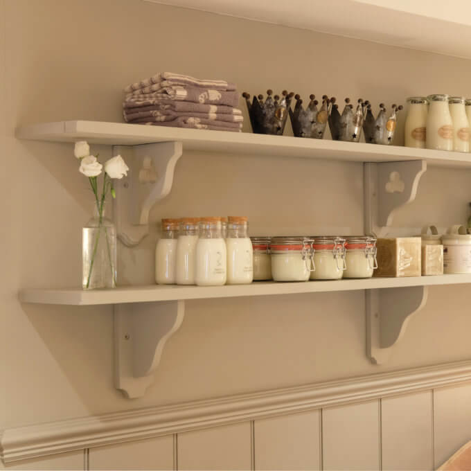 shelf brackets hand painted