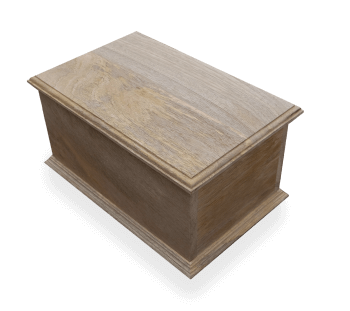 flat lidded wooden box