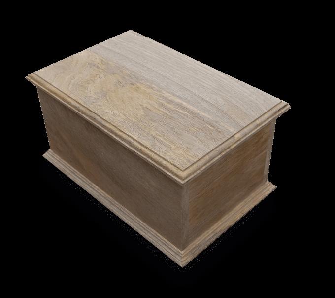 flat lidded wooden box