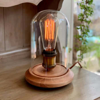 Lamp with vintage style bulb