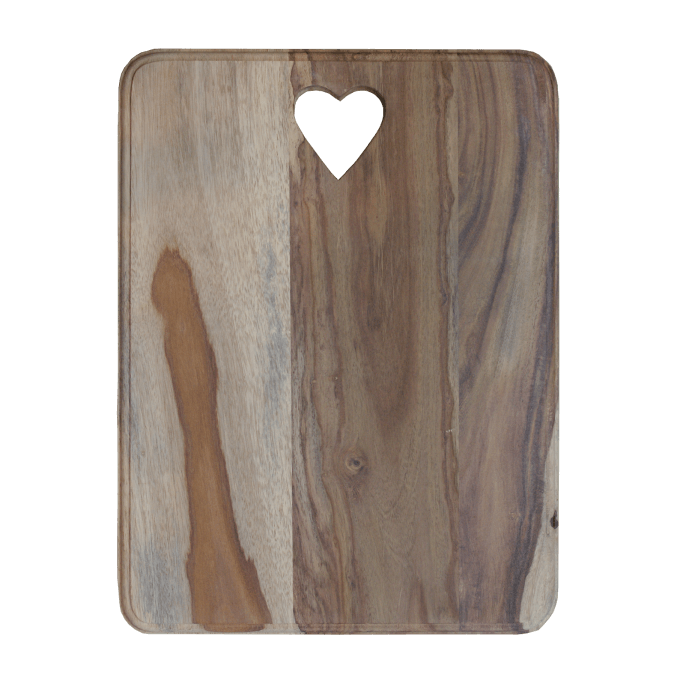 Rosewood Chopping Board with heart cut out motif