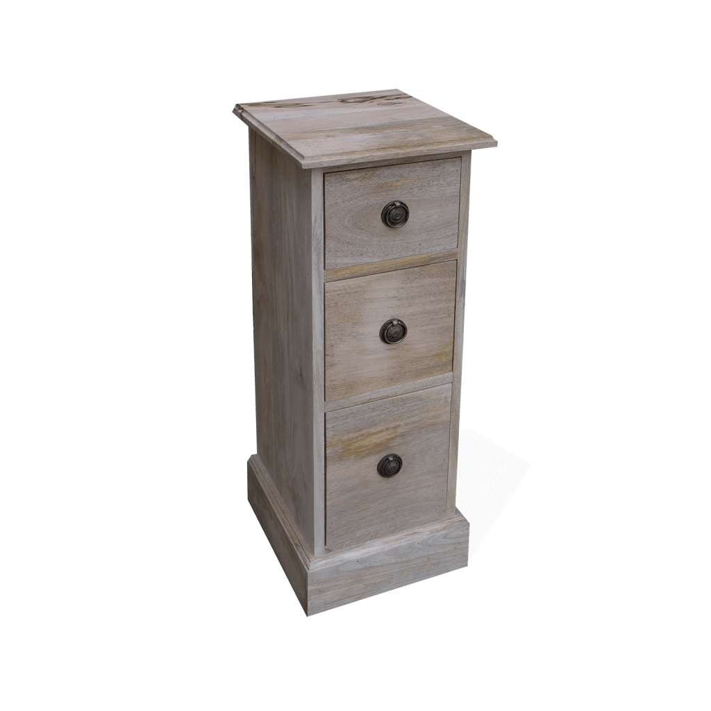 Wooden Bedside Chest with Drawers