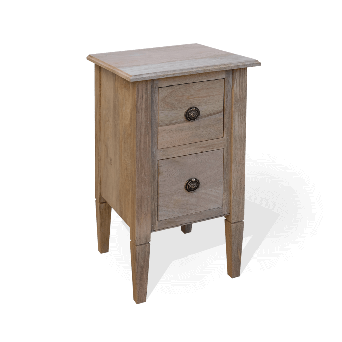 Two-Drawer Wooden bedside table