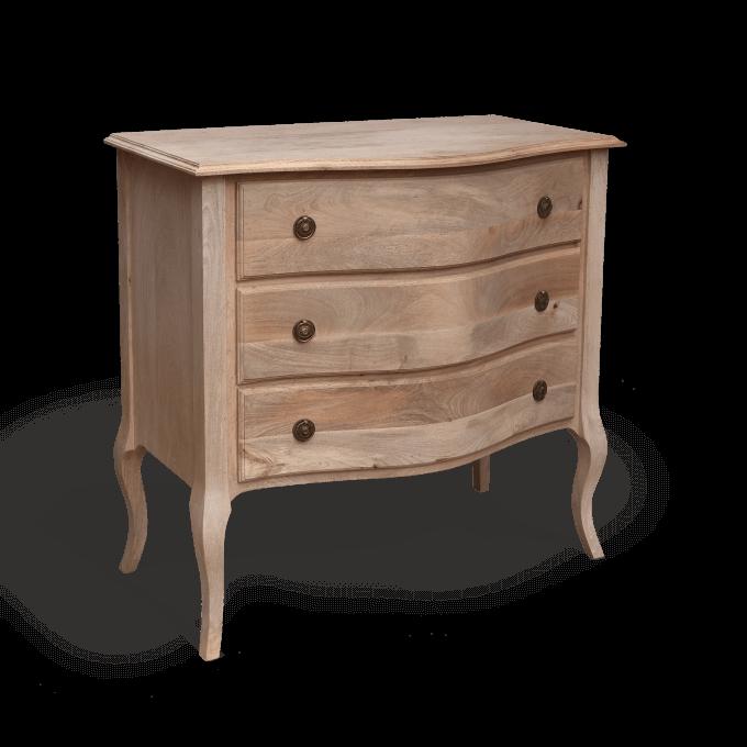 3 drawer gustavian chest