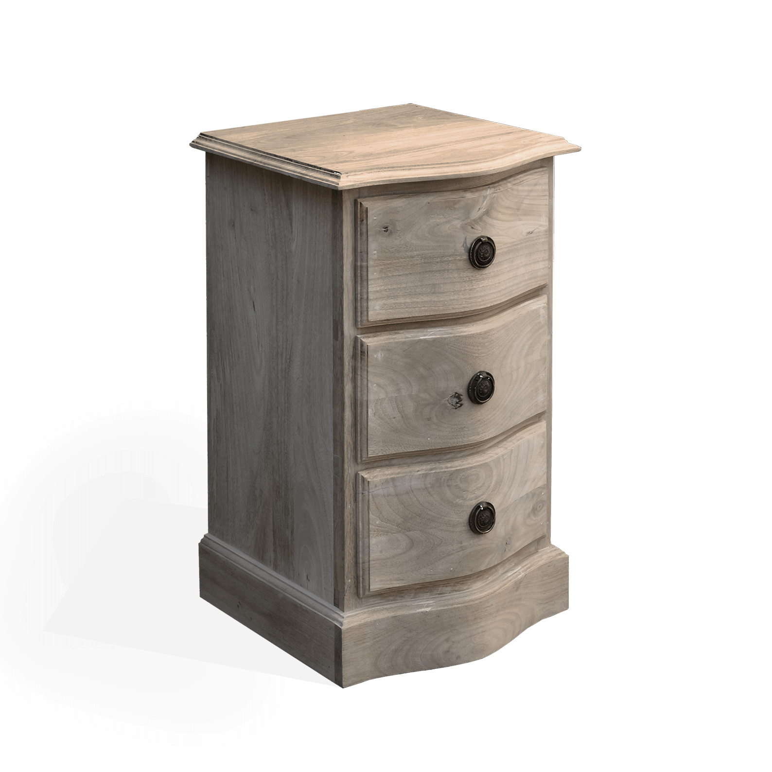 Bedside Bow Fronted Chest Small Scumble Goosie
