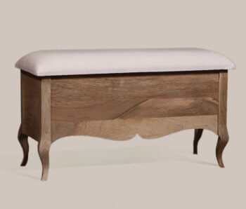 Gustavian Ottoman Upholstered top
