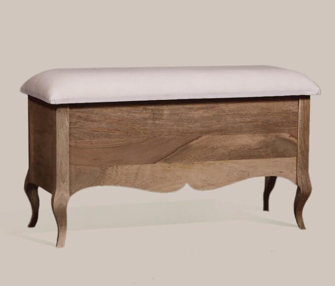 Gustavian Ottoman Upholstered top