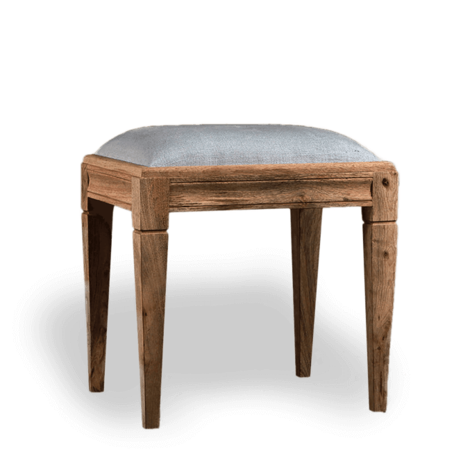 Wooden Stool with Padded Seat
