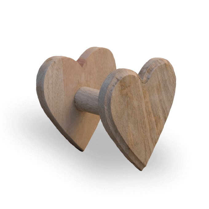 heart shaped wooden curtain hold back
