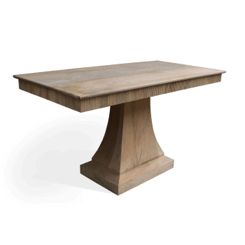 Solid wood table with beading edge