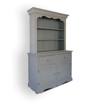 Dresser with Shelves painted grey