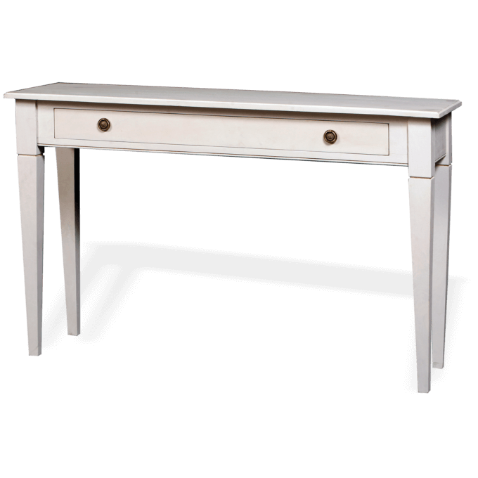 Hall Console Table painted in old white