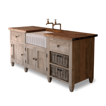Wooden Kitchen Unit with Enamel Sink