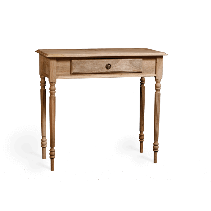 Small Writing Table in Natural Wood
