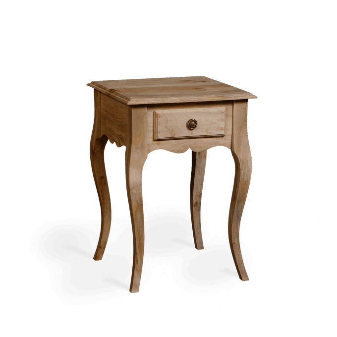 Bedside Table in Natural Wood