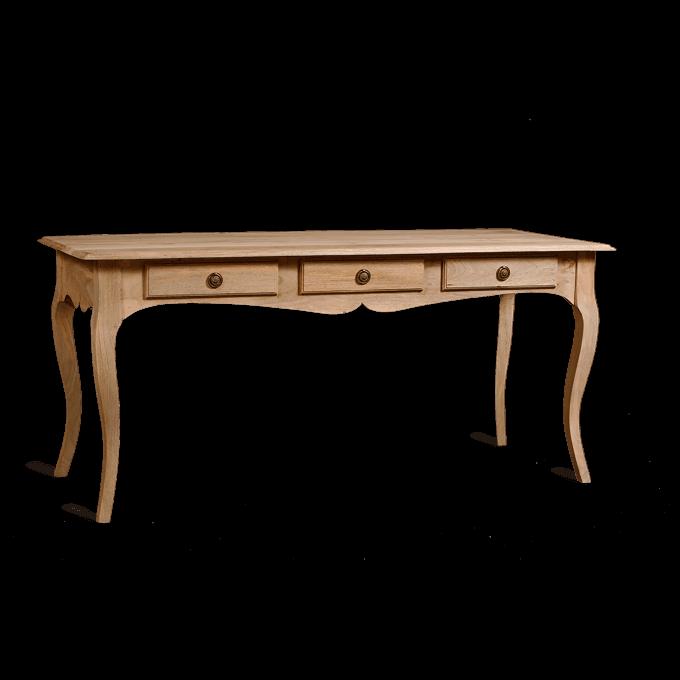 Gustavian 3 drawer wooden desk
