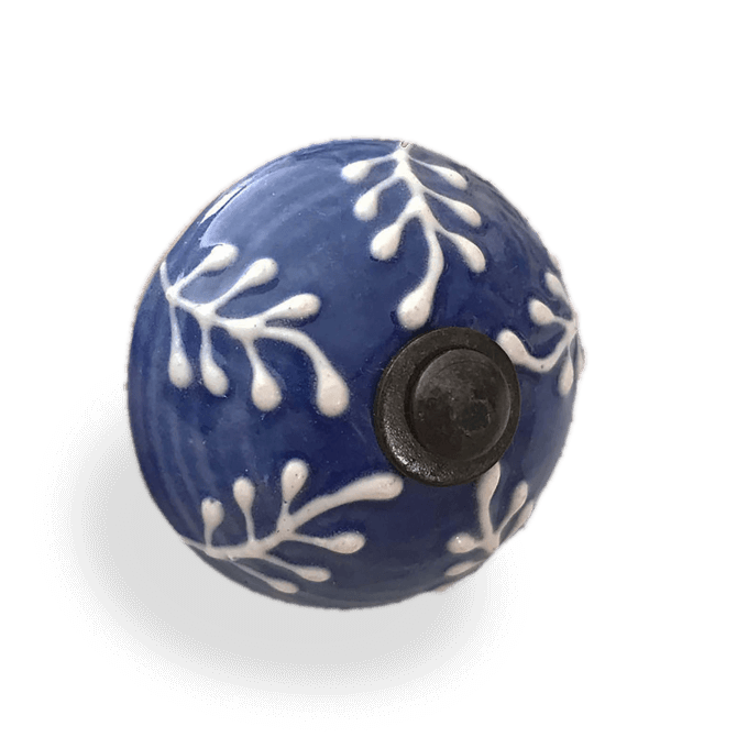Blue & White Porcelain Knob
