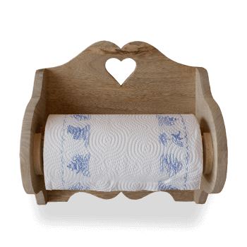 Wooden Kitchen Roll Holder