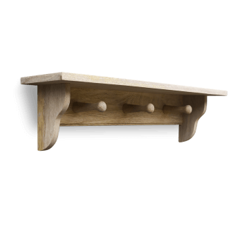 Wooden Peg Shelf