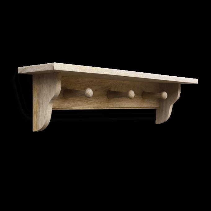 Wooden Peg Shelf