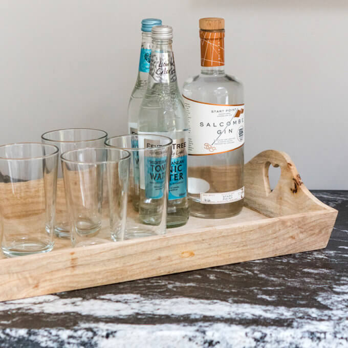 Wooden Drinks Tray