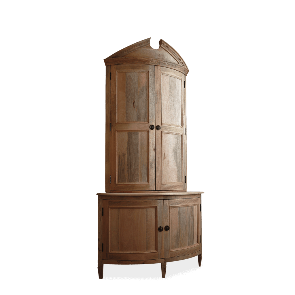 Large Empire Corner Cupboard