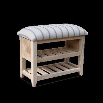 Upholstered wooden Shoe Rack