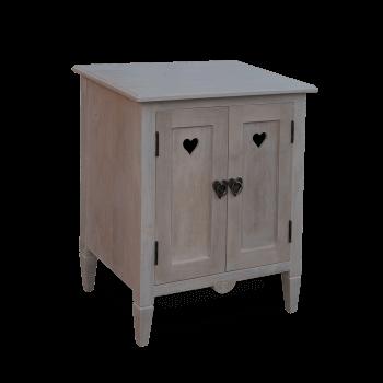 Shaker Style Heart Cupboard in Solid Wood