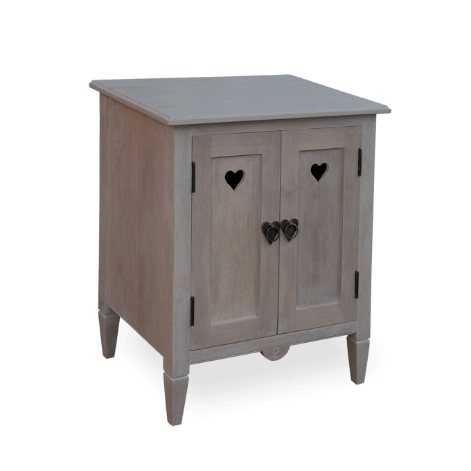 Shaker Style Heart Cupboard in Solid Wood