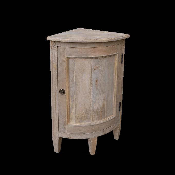 Wooden Corner Cupboard Gustavian Style