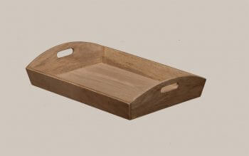 Deep Wooden Butlers Tray