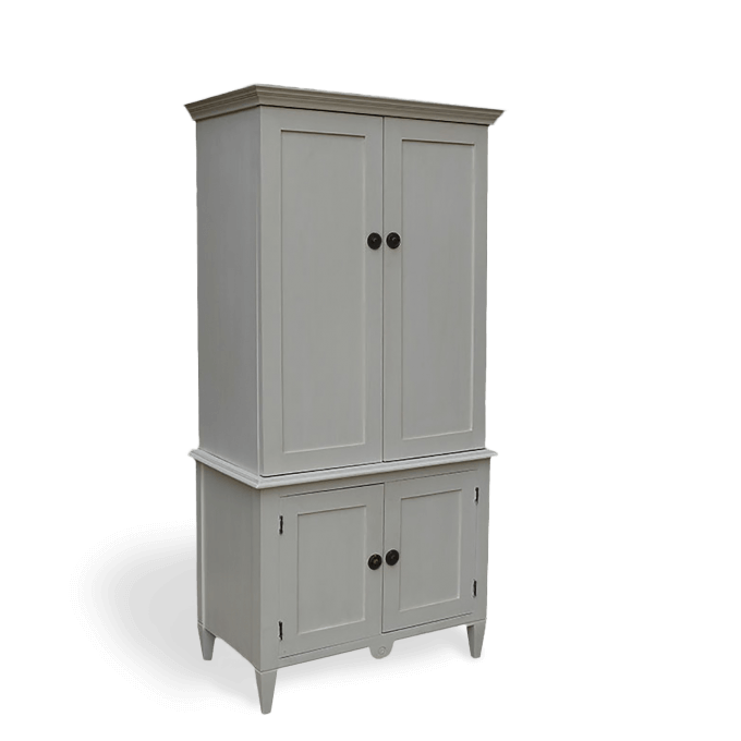 Armoire Storage Cupboard painted white