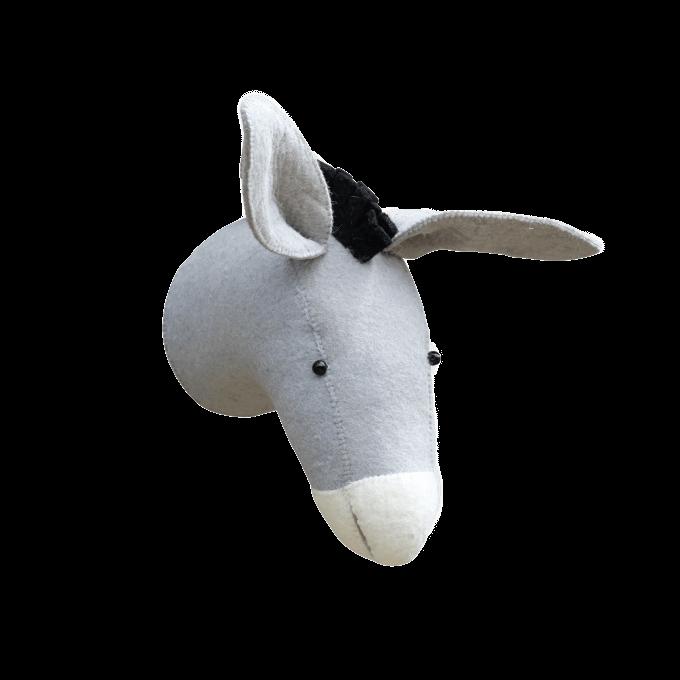 Donkey Felt Animal Head