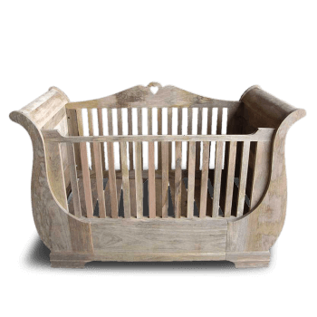 Gustavian Solid Wood Cot Bed
