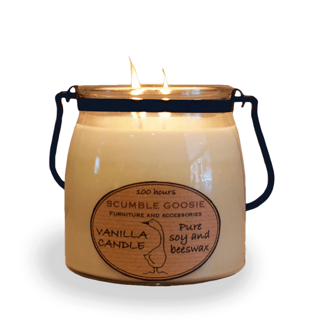 Vanilla Candle in Butter Jar
