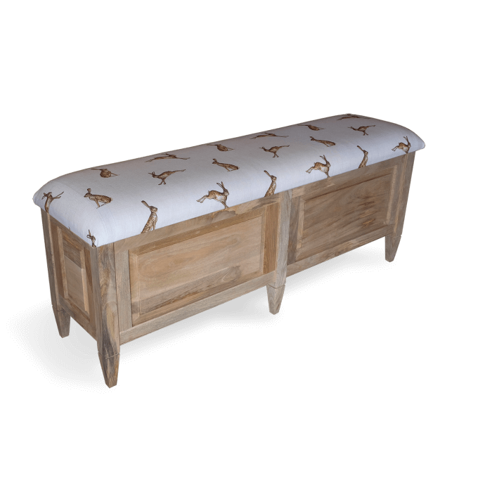 Empire Ottoman Storage Trunk Solid Wood