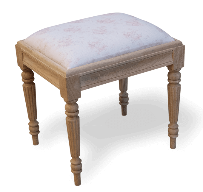 Small French Upholstered Stool