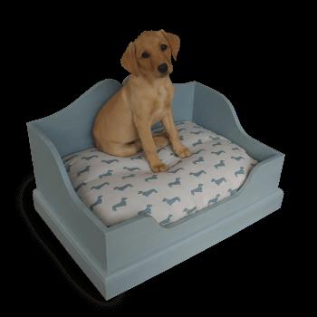 Solid wood dog box