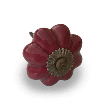 Cranberry Flower Furniture Knob