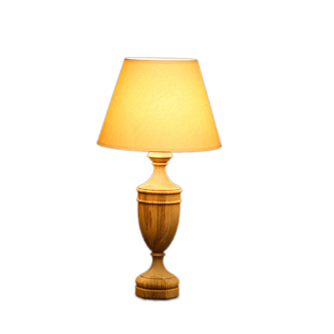Wooden Urn Lampbase