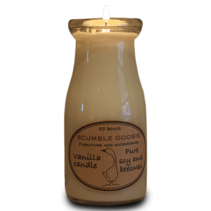 Vanilla Candle in Glass Bottle