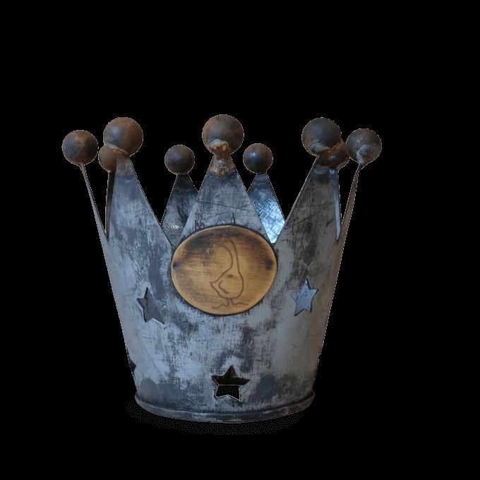 Crown Zinc Tea LIght holder