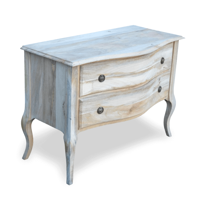 Gustavian Bow Fronted Chest