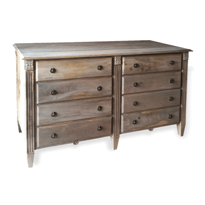 Double Rosen Chest of Drawers in solid mango wood