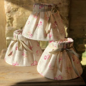 handmade lampshades with ribbon