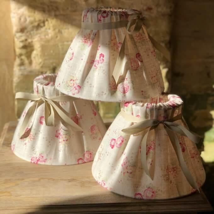 handmade lampshades with ribbon