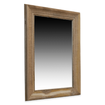 Rectangular wooden mirror