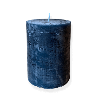 Blue pillar candle