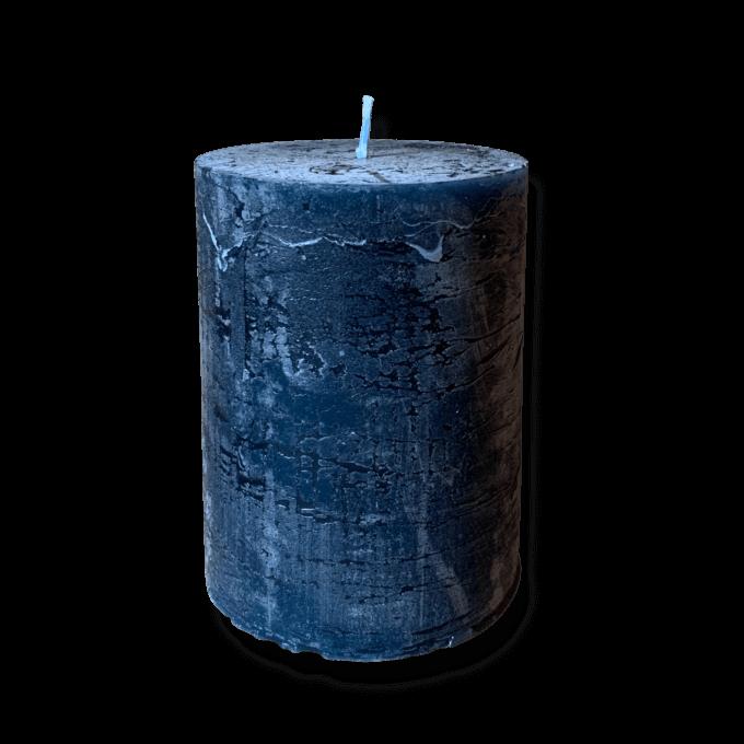 Blue pillar candle